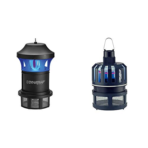 DynaTrap DT1775 1 Acre XL Mosquito and Insect Trap with AtraktaGlo Light - Black & 150 Ultralight Insect Trap, 300 Square Feet, Midnight Blue