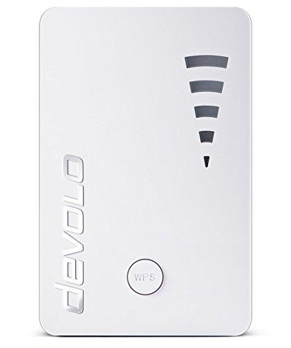 Devolo WiFi Repeater ac (1200 Mbit/s, 1x Port Gigabit, WPS, Répéteur WiFi, Amplificateur WiFi, Augmenter Portée Wifi, Affichage de l