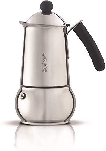 """Bialetti 4642 Espressokocher """"Class Induktion"""" für 4 Tassen, Edelstahl, Silber, 30 x 20 x 15 cm"""