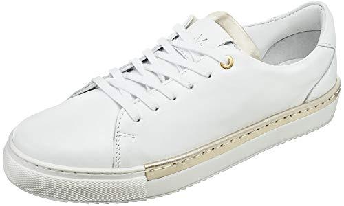 Macov - Zapatillas de Moda de Cuero para Mujer para cadaocasión - Sneakers - Blanco y Liso - Talla UE: 37