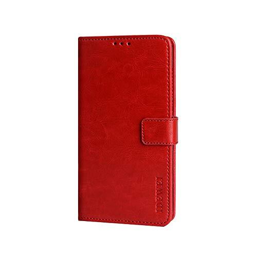 Coque Funda Poco X3 NFC,Cartera de Cuero con Tapa y Ranura para Tarjeta para Xiaomi Poco X3 NFC(Rojo)