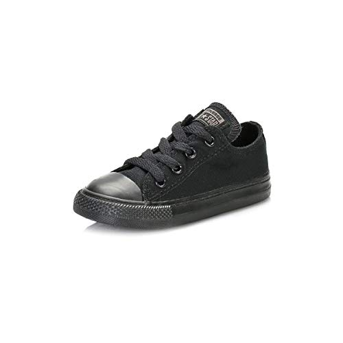 Converse Toddler Black Monochrome All Star Low Trainers-UK 8 Infant