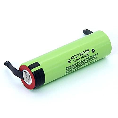 NCR18650B 3.7 v 3400mah 18650 baterías de Hoja de níquel de Soldadura de batería Recargable de Litio 5PCSbattery