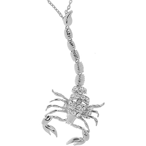 chaosong shop Escorpión ajustable esclavo dedo anillo mano cadena pulsera joyería plata