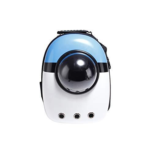 Yiqing Pet Space Capsule Carrier Backpack Bulle Dôme Voyageur Sac à Dos Plusieurs Air Trous Imperméable Léger Sac pour Chats Chiens,Blue