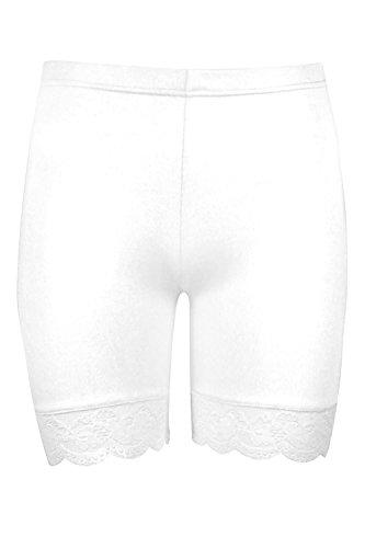 Oops Outlet -  Pantaloncini - Donna Bianco 40