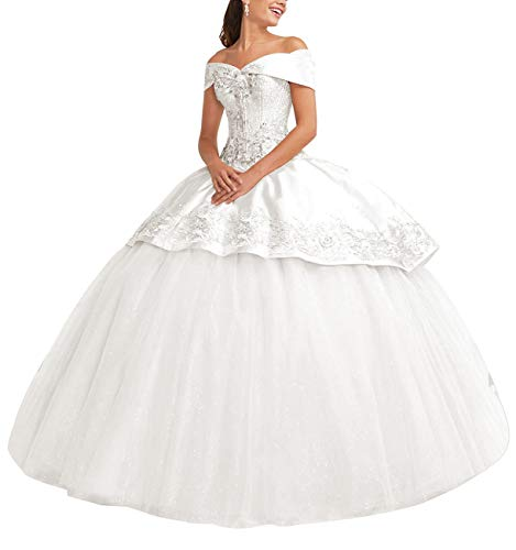 Homdor Women Strapless High Low Bridesmaid Dresses Off The Shoulder Wedding Gown White Size 14
