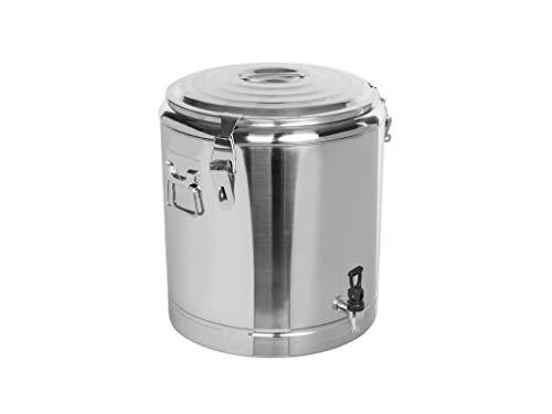 Profi Gastro Edelstahl Thermotransportbehälter mit Ablaufhahn & Druckausgleichsventil von 10-50 Liter auswählbar (40x45 cm 33 Liter)