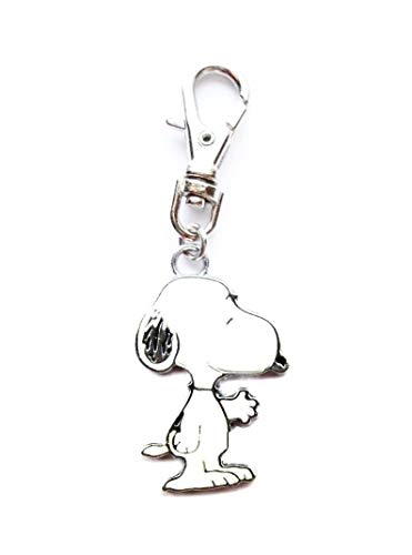 Heavens Jewelry Snoopy Gives A Helping Hand Peanuts Dog Charm ADD to Zipper Pull PET Dog CAT Collar Leash Keychain ETC