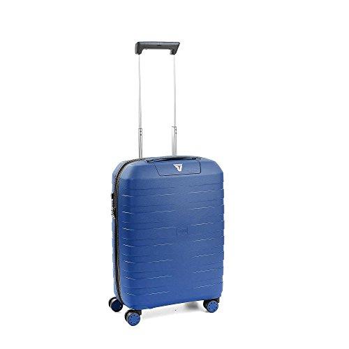 Roncato Trolley Cabina XS Rigido Box 2.0 - Bagaglio a mano cm. 55x40x20 L 41 Ultra-leggero Organizer Interno Chiusura TSA Ideale per Ryanair Easyjet Lufthansa Garanzia 10