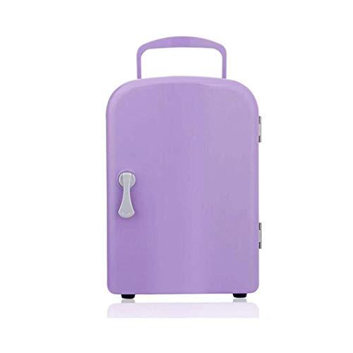 LIUCHANG Auto Kühlschrank, 4L Mini-Kühlschrank kühlerer und wärmeren tragbaren Mini-Fahrzeug-Kühlschrank (lila) liuchang20
