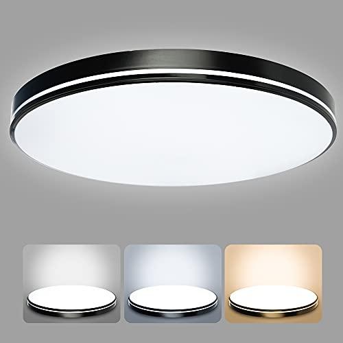 36 W LED Lámpara de Techo, bapro Plafón Luz de Techo LED Regulable, Plafon Techo Led Cocina Luz con Control Remoto para Baño Dormitorio Cocina Sala Estar Comedor[Clase de Eficiencia Energética A++]