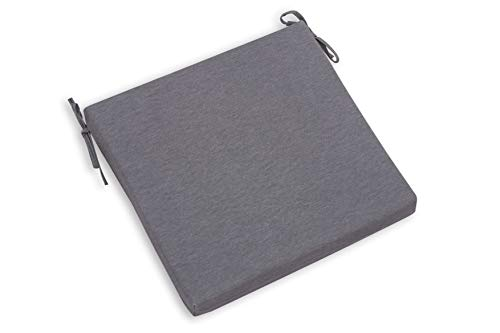 CHILLVERT KAN115 - Cojin Para Silla Gandía Cuadrado 38x38x4,5 cm Gris Desenfundable