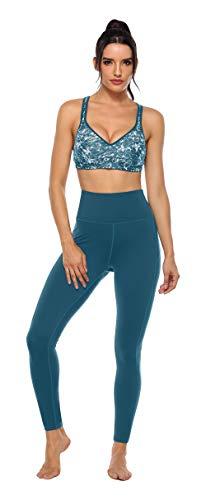 Charmo damen Yogahosen Jogginghose Sportliche Hosen Bauchweg für Fitness, Yoga, Pilates, Grün, L