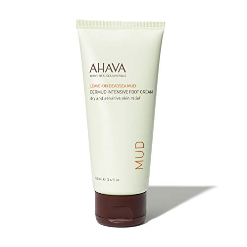 AHAVA Leave On Dead Sea Mud Dermud Intensive Foot Cream, 3.4 Fl Oz