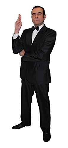 Déguisement Agent secret pour adulte – veste de costume noire + pantalon noir assorti + cravate noire – Parfait pour les déguisements sur le thème du film et d'Halloween (X-Grand)
