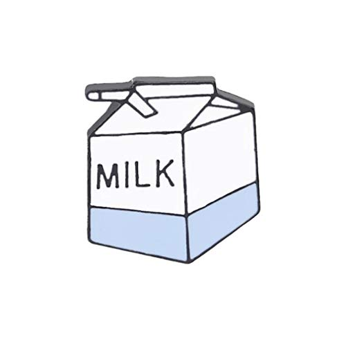 TraveT Fashion Cartoon Milk Lemonade Brooch Pin Cute Enamel Lapel Pin for Clothes Bags Backpacks,Xz1435-1 (Milk) New Mexico