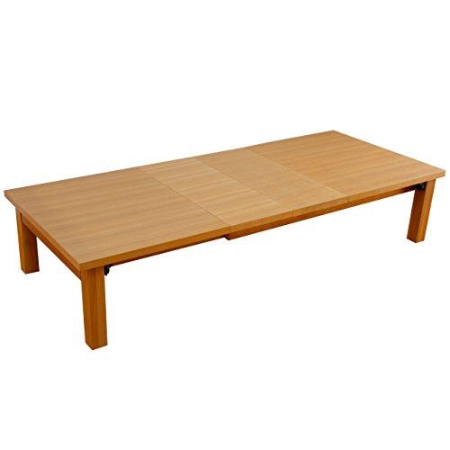 折れ脚 伸長式テーブル グランデネオ180 幅120~最大180×奥行75cm ナチュラル