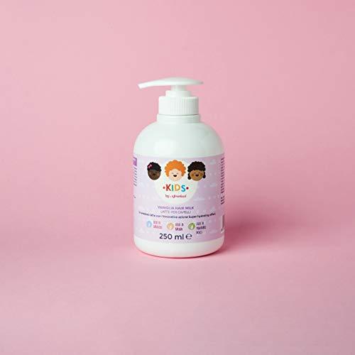 AFRORICCI KIDS Vaniglia Latte Super Idratante Quotidiano con Olio di Argan - Per capelli secchi, aridi dei bambini 250ML