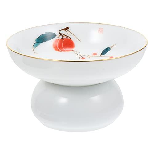 YARNOW Filtro de Té de Cerámica de Porcelana Filtro de Té Pintado a Mano Chino Colador Embudo de Té con Base Soporte para La Ceremonia de Té Chino Kongfu Cha Bao Rosa