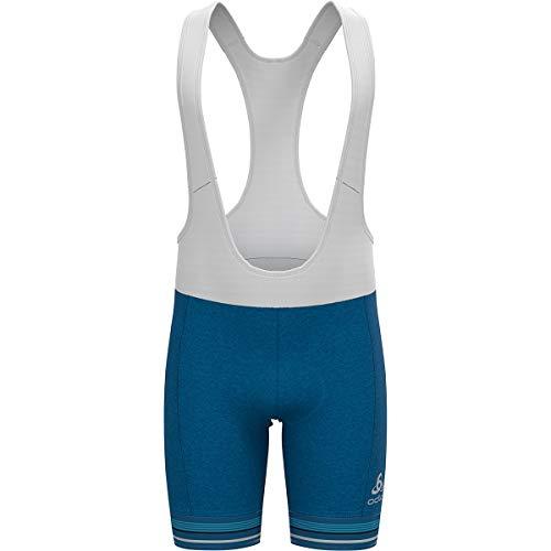 Odlo Mallas para hombre Zeroweight de Suspenders mykonos blue melange - white S