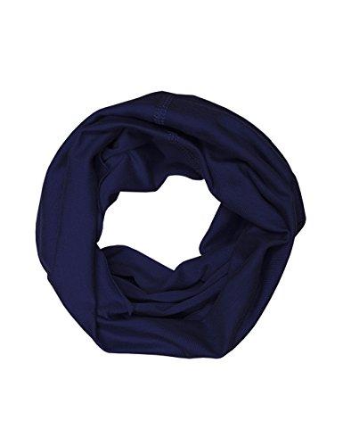 maximo Jungen Halstuch Multifunktionstuch, Einfarbig, Gr. 2, Blau (dunkelmarine)