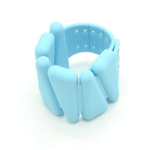 TIM-LI 2 Pesas De Silicona Duraderas para Tobillos/Muñecas, Muñequeras De Entrenamiento De Fuerza para Ejercicios En Interiores Y Exteriores (500 G Cada Una, Paquete De 2),Azul