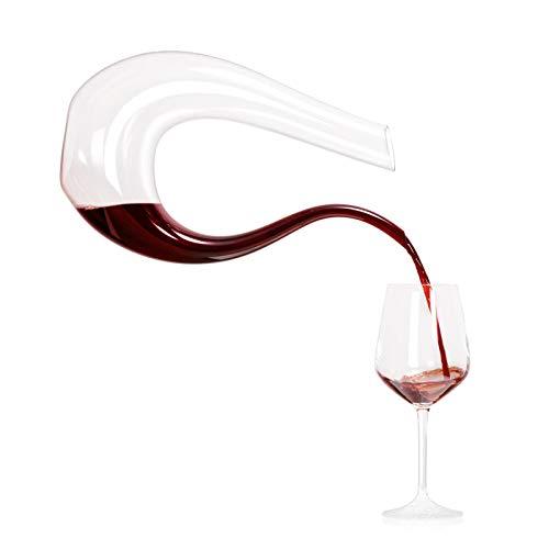 Mini decanter per vino, decanter a forma di U da 200 ml, materiale in cristallo senza piombo al 100%, leggero e resistente, adatto per riunioni di famiglia