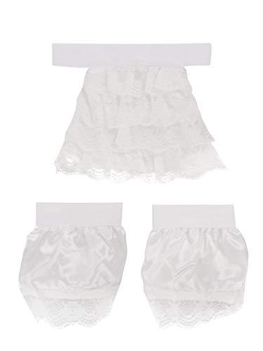 CoolChange Spitzen Manschetten und Jabot Kragen für Barock / Steampunk Verkleidung   Weiß