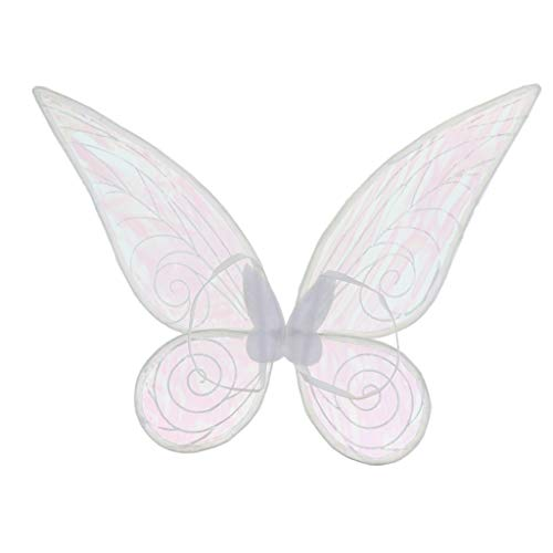 FLAMEER Alas de Forma Mariposa Hada Ángel Disfraz para Niño Niña Adultos Dress Up Party Acces Prop - Blanco, Niño