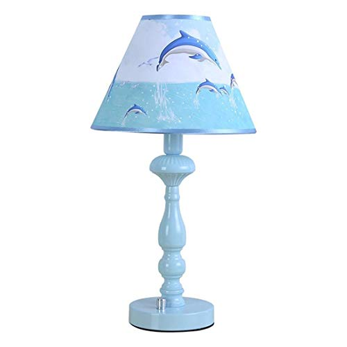 LCLZ Dimmable Diameter 25 * 45cm Nordic Modern Dolphin Table Lamp Living Room Dormitory Bedroom Bedside Table Lamp E14