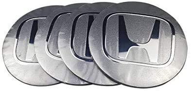 MISSLYY 4 Piezas Coche Tapas Centrales de Llantas para Honda,con el Logotipo De Insignia Rueda Tapas De Centro Prueba De Polvo Accesorios De Decorativo De Automóvil,56mm