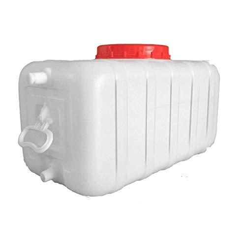 Bidón de Agua, 60L 80L 120L 150L Depósito de Agua Con Grifo Recipiente De Almacenamiento de Agua de Plástico Grueso Grifo de Agua Portátil Exterior Barril de Vino Barril Químico Industrial,B(Size:80L)