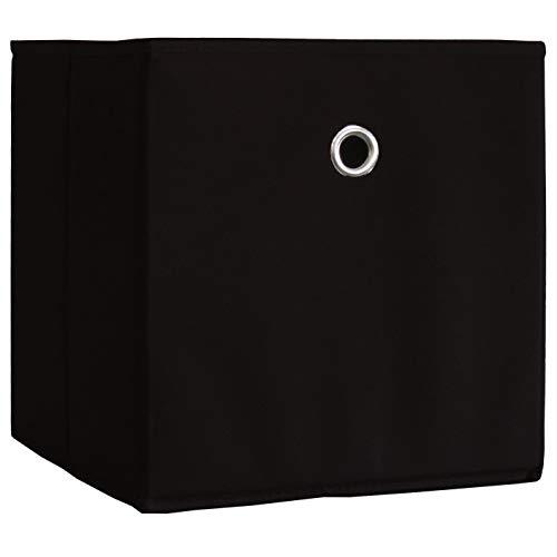 """VCM 2er Set Faltbox Klappbox Sammelbox Stoffbox Regalbox Regalkorb Korb Stoff 27 x 27 x 28 cm """"Boxas"""""""
