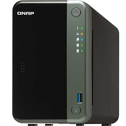 QNAP TS-253D-4G 2 Bay Desktop NAS Gehäuse - Netzwerkspeicher mit 2.5GbE Konnektivität, 4GB RAM, Intel Celeron Quad-Core, 2.0 GHz Prozessor - für Profis, unterstützt PCIe-Erweiterung