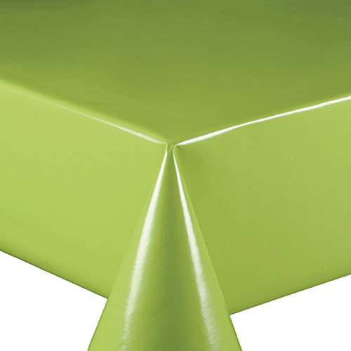 Wachstuch Wachstischdecke Tischdecke Gartentischdecke Glatt UNI Grün Breite & Länge wählbar 140 x 120 cm Eckig abwaschbar