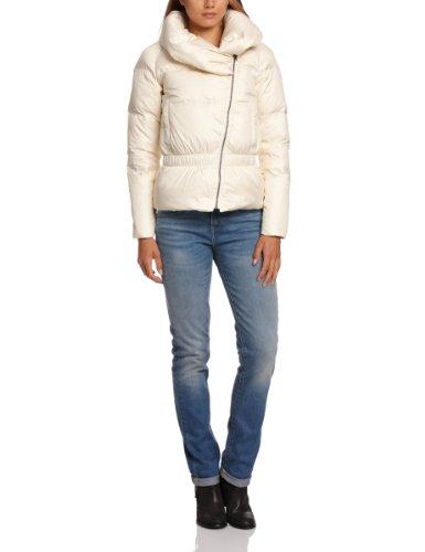 Levi's Damen Jacke Regular Fit Shawl Collar Waisted Puffer 71875, Gr. 38 (M), Hautfarben (Sunny Cream 0001)
