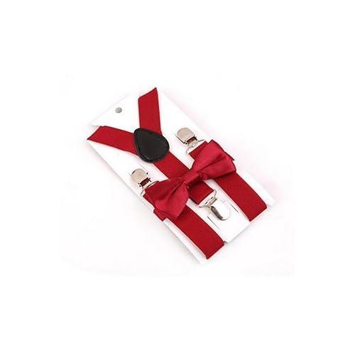Li_unmio Clip da Cintura per Bambini (Dark Red)