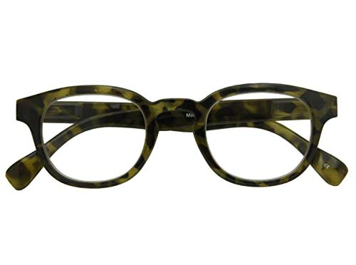 Croon Glasses Montel Havanna groen - leesbril - +2.5 - voor mannen en vrouwen - veerscharnieren
