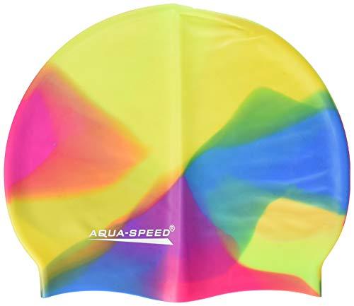 Aqua-Speed Herren Bunt Silicone s Multicolor Badekappe, Mix, Einheitsgröße