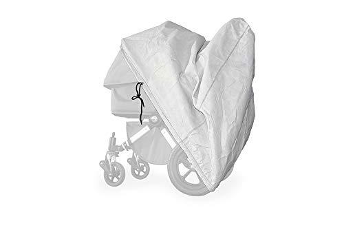 softgarage buggy softcush lichtgrau Abdeckung für Kinderwagen Teutonia Cosmo Regenschutz Regenverdeck