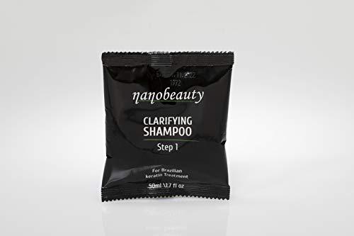 Brasilianische Keratin-Behandlung, klärendes Shampoo, 50 ml, Schritt 1 Tiefenreinigung