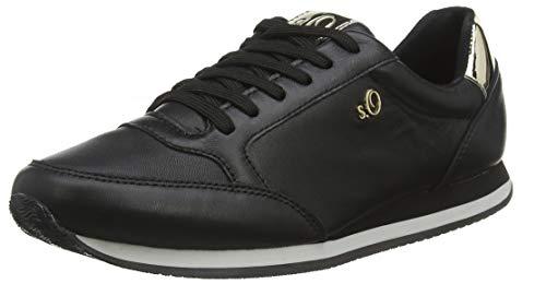 s.Oliver Damen 5-5-23640-23 Sneaker, Schwarz (Black 001), 42 EU