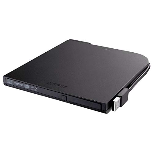 Buffalo BRXL-PT6U2VB-EU mobiler Blu-ray-Brenner, USB 2.0, schwarz