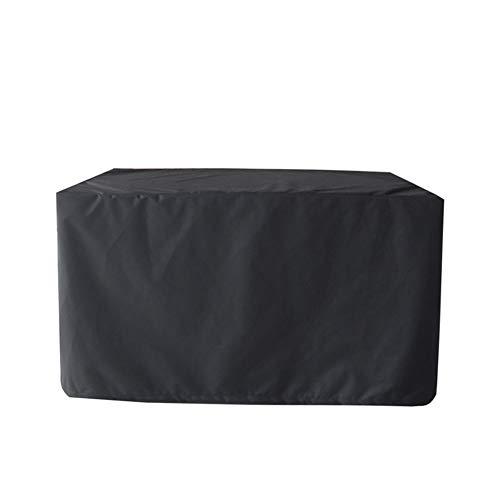 HH1 Fundas Muebles de Jardín, Impermeable a Prueba de Viento Anti-UV Tela Oxford Cubierta para Muebles para Mesa Cuadrada al Aire Libre (86X86x36cm) - Negro