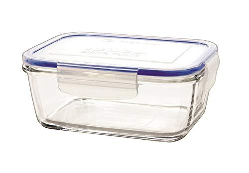 takestop® multifunctionele glazen bak rechthoekig, deksel van kunststof, met ERMETAL kom, kom, kom, afvalemmer, 170x124mm