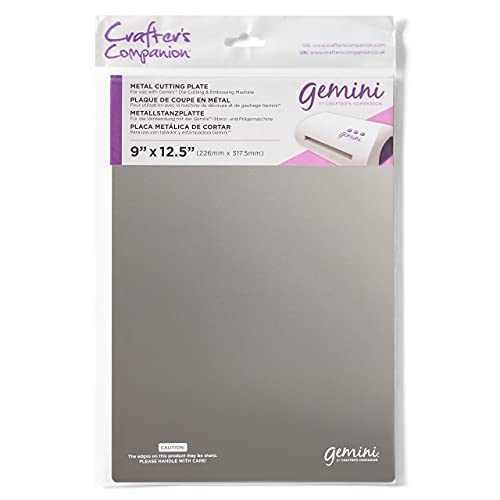 Crafter's Companion Gemini Accessories-Metal Cutting Plate, Silver, 36 x 23.4 x 0.1 cm