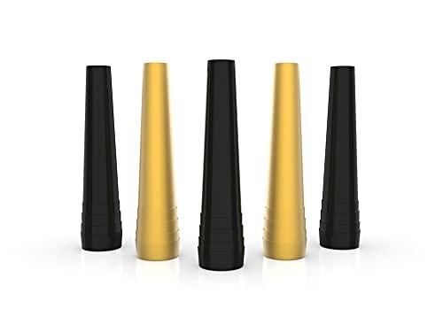 Shisha Hygienemundstück Zubehör Premium VEIRA - für Wasserpfeife, Länge 59 mm Schwarz & Gold - Shisha Mundstücke VEIRA Einweg bunt Hygiene Mundstücke Hookah Mouth Tips (80)