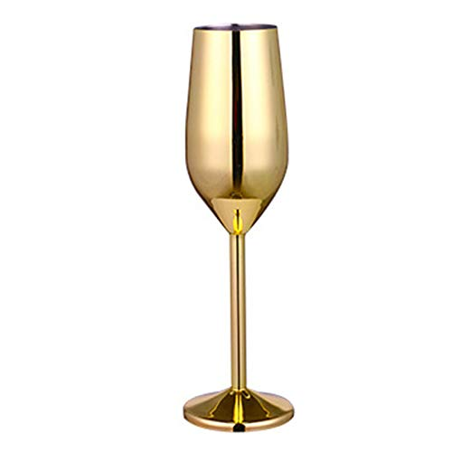 DIYARTS Copa De Vino De Acero Inoxidable De 220 Ml con Base Estable Espejo Cáliz Pulido Tazas Exquisitas para Beber para El Banquete De Banquete De Boda En Casa