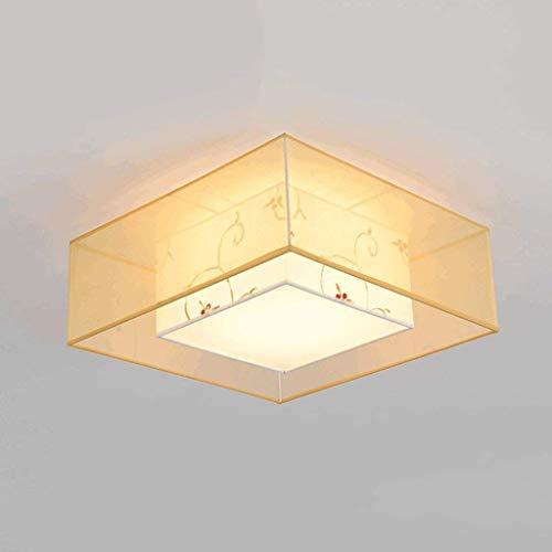 YANQING Lampe - Deckenleuchten Neue chinesische Tuch-Decken-Lampe, Doppeltuch Tinte Lampshade, Warm Retro Wohnzimmer Schlafzimmer Arbeitszimmer Energiespar Decke Deckenleuchten (Farbe: B)